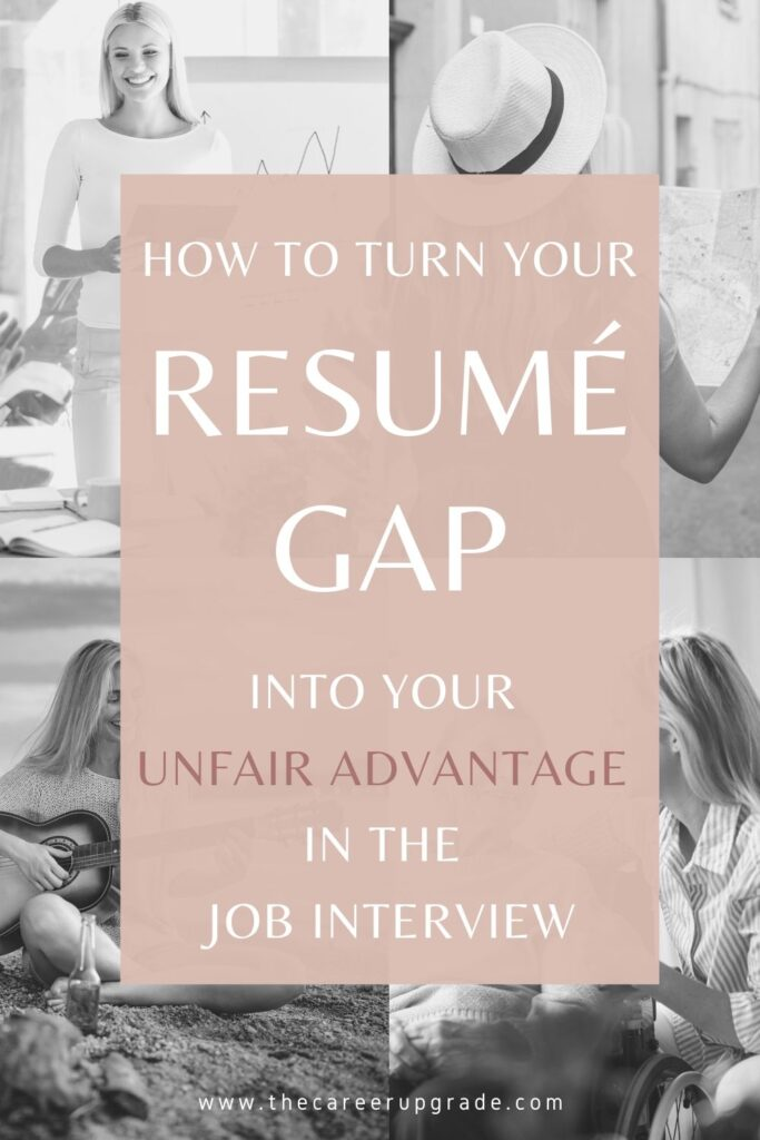 Are you worried that your employment gap will prevent you from landing a new job? There's no need to worry - turn it into your unfair advantage instead!
