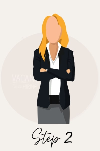illustration of business woman considering job opportunities
