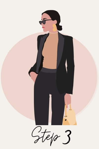 illustration of business woman confident in her capabilities
